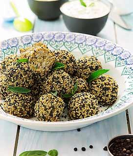 Boulettes végétales aux graines de sésame