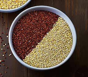 Quinoa rouge et blond